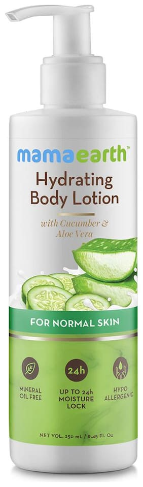 Mamaearth Hydrating Natural Body Lotion With Cucumber & Aloevera For Men & Women With Normal Skin 250 ml