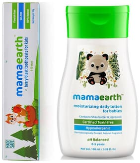 MamaEarth Lotion 100ml and Berry toothpaste 50g (Pack of 2)