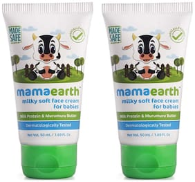 Mamaearth Milky Soft Natural Baby Face Cream 50mL (Pack of 2)