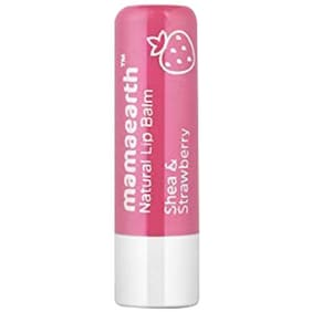 Mamaearth Natural Lip Balm With Shea Butter & Strawberry For Women 4.5 gm