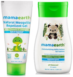 Mamaearth Natural Mosquito Repellent Gel, 50ml and Lotion (100 ml) (Pack of 2)