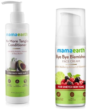 Mamaearth No More Tangles Hair Conditioner 200ml Bye Bye Blemishes for pigmentation, sun damage & spots correction Face Cream 50 ml (Pack of 2)