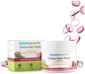 Mamaearth Onion Hair Mask For Dry & Frizzy Hair, Controls Hair fall and Boosts Hair Growth, With Onion & Organic Bamboo Vinegar 200ml