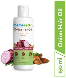 Mamaearth Onion Oil For Hair Regrowth & Hair Fall Control With Redensyl 150 ml