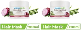 Mamaearth's Onion Hair Mask For Dry & Frizzy Hair, With Onion & Organic Bamboo Vinegar 200ml each  Pack of 2