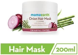 Mamaearth'S Onion Hair Mask For Dry & Frizzy Hair, Controls Hairfall And Boosts Hair Growth, With Onion & Organic Bamboo Vinegar 200 ml