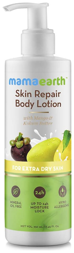 Mamaearth Skin Repair Natural Winter Body Lotion With Mango & Kokum Butter For Women & Men With Extra Dry Skin   250 ml