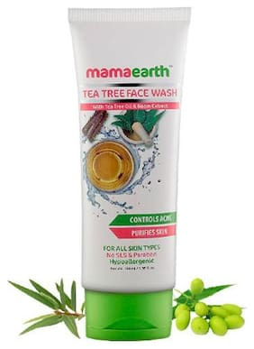 Mamaearth Tea Tree Natural Face Wash With Tea Tree Oil & Neem Extract 100 ml