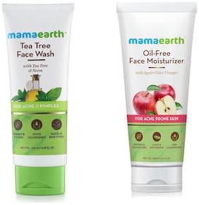 Mamaearth Tea Facewash 100 ml, Oil Free Face Oil 80 ml (Pack of 2)