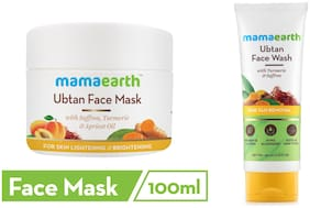 Mamaearth Ubtan Face Mask 100 ml, Ubtan Facewash 100 ml (Pack of 2)