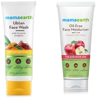 Mamaearth Ubtan Facewash 100 ml And Oil Free Face Oil 80 ml (Pack of 2)