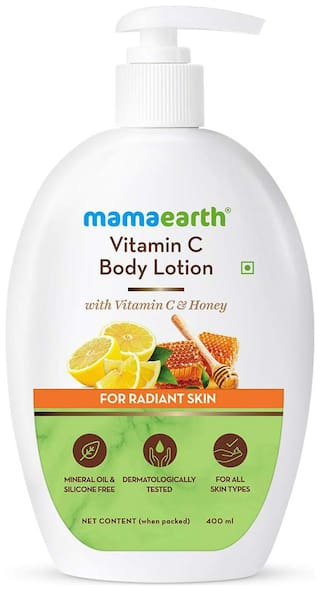 Mamaearth Vitamin C Body Lotion with Vitamin C & Honey for Radiant Skin 400 ml
