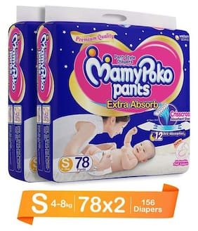 MamyPoko Small Size Pants (S78 Count)(Pack Of 2)