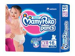 MamyPoko Pants Extra Absorb Diaper - Extra Large Size, Pack of 14 Diapers (XL-14)