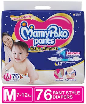 Mamy Poko Pants Style Diapers - Medium 76 pcs