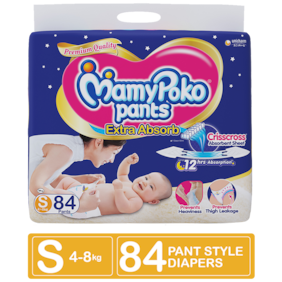 Mamy Poko Pants Extra Absorb Diaper - Small 84 pcs