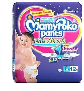 Mamypoko Pants Baby Diaper L 12 Pcs