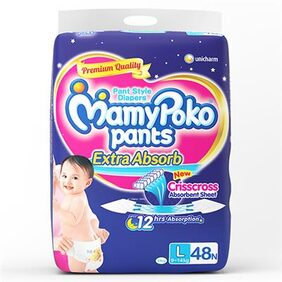 MamyPoko Pants extra absorb diaper L - 48's