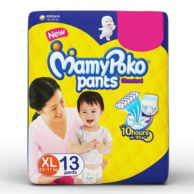 MamyPoko Pants Standard Diaper, Extra Large Size, Pack of 13 Diapers ( XL-13 N)