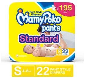 MamyPoko Pants Standard diaper - Small Size, Pack of 22 diapers (S-22)