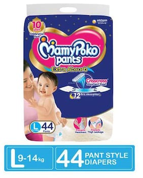Mamypoko Pants - Extra Absorb Diaper  Large Size 44 pcs