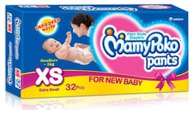Mamypoko Pants Style Diapers - Xs  Upto To 5 Kg 32 pcs
