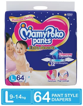 Mamypoko Pants Style Diapers - Large 64 pcs