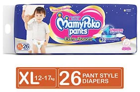 Mamypoko Pants Style Diapers - Extra Absorb Xl  12-17 Kg 26 pcs