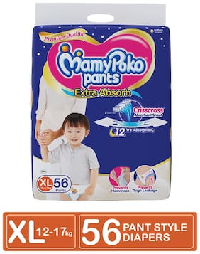 MamyPoko Pants Extra Absorb Diaper X-Large (Pack Of 56)
