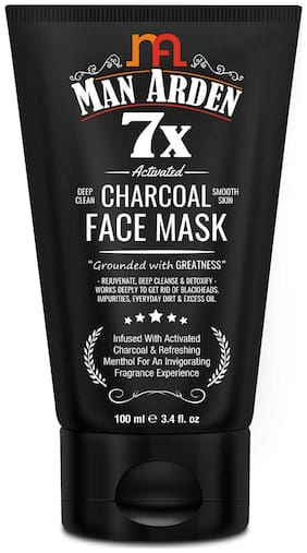 Man Arden 7X Activated Charcoal Face Mask 100ml