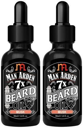 Man Arden 7X Beard Oil 30ml (Musk) (Pack Of 2)