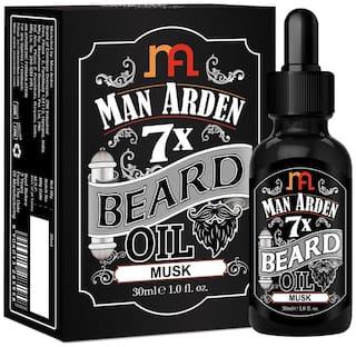 Man Arden 7X Beard Oil 30ml (Musk) - 7 Premium Oils Blend For Beard Growth & Nourishment