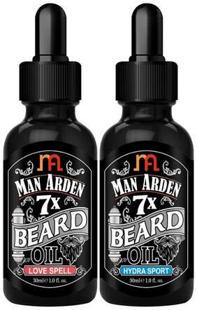 Man Arden 7X Beard Oil Combo Love Spell,Hydra Sport 30ml Each (Pack Of 2)