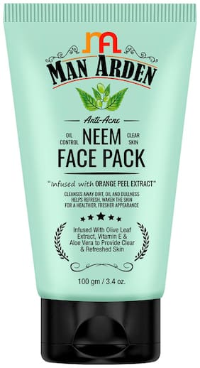 Man Arden Anti-Acne Neem Face Pack 100g (Pack Of 1)