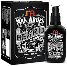 Man Arden Beard Elixir Oil 50ml (Sandalwood) - 7 Oils Blend For Beard Repair, Growth & Nourishment