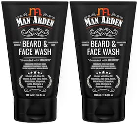Man Arden Beard and Face Wash - No Parabens/Sulphate/Silicones 100ml (Pack Of 2 )