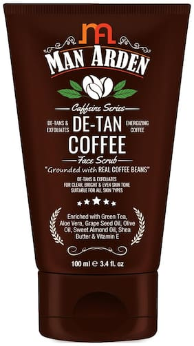 Man Arden Caffeine De Tan Coffee Face Scrub, 100ml