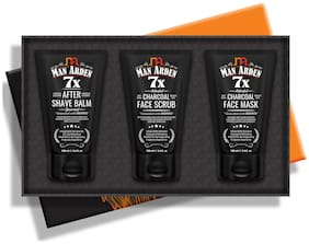 Man Arden, Face Care Gift Box - For Men (7X After Shave Balm 100 ml; Charcoal Face Scrub 100ml; Charcoal Face Mask 100 ml)