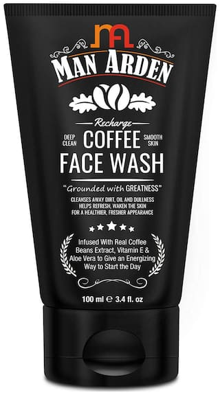 Man Arden Coffee Face Wash Cleanses Away Dirt Oil and Dullness 100ml