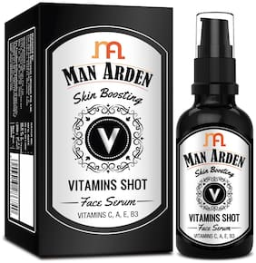 Man Arden Skin Boosting Vitamins Shot Face Serum - With Vitamin C, A, E and B3 For Men, 30 ml