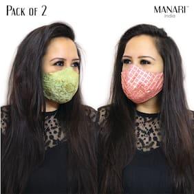 MANARI India Face Mask For Women(Assorted)