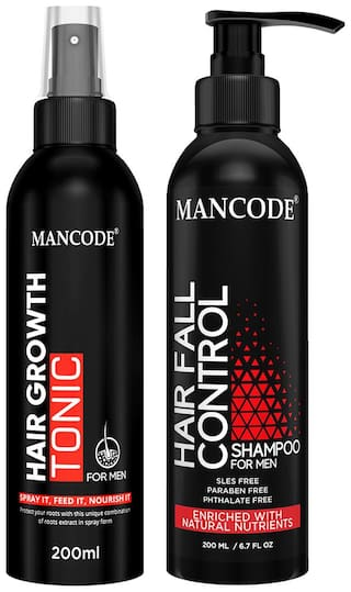 Mancode Hair Tonic 200 ml   Hair Fall Control Shampoo 200 ml formulated for Hair Control