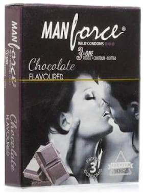 Manforce  Condom  3 pcs And 4 Tab (100 Mg ) With Discreet Packing Condom , Chocolate flavor