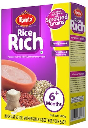 Manna  First Baby Food - Rice Rich (for Bonnie Babies) 200 g