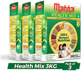 Manna Health Mix - Multigrains Health & Nutrition Drink 3kg (No Added Sugars, No Additives, No Artificial Colours & Flavours)