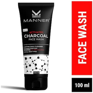 Manner Activated Charcoal Face Wash 100ml