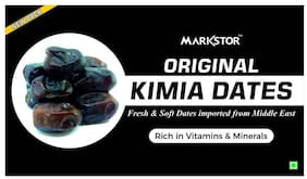 Markstor Original Kimia Dates - Fresh & Soft Dates imported from Middle East - 500g (Pack of 1)