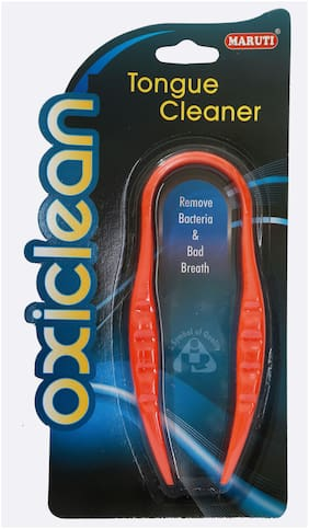 Maruti Classic Oxiclean Plastic Tongue Cleaner With Attractive Color- Orange