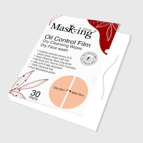 Masking Diva Oil Control Film Dry Cleansing Wipes (30 Wipes)(Pack of 1)