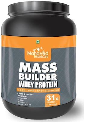 Mahaved Mass Builder Whey Protein Supplement 500 gm - Banana